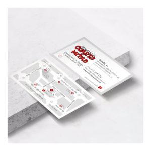 Tarjetas de visita para Restaurante Cuarto y Mitad en Madrid